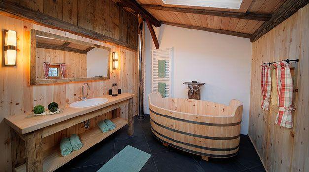 Ferienwohnung mit Badewanne - Südtirol - Roter Hahn