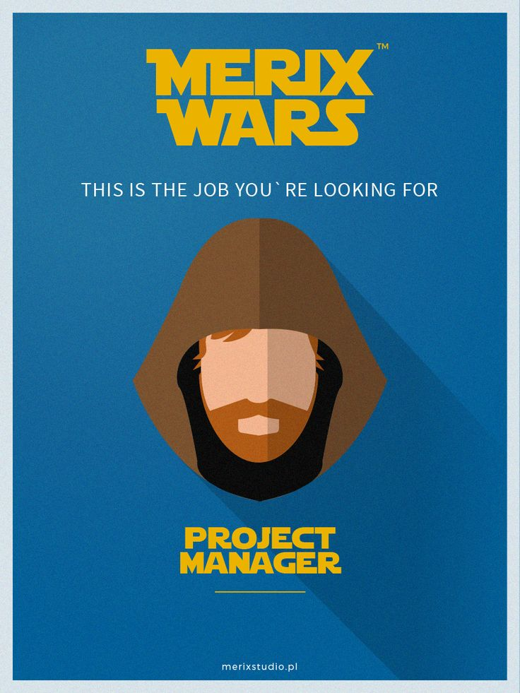 Our recruitment campaign based on #starwars Join our team as #PM #ObiWan #job http://www.merixstudio.com/wars/