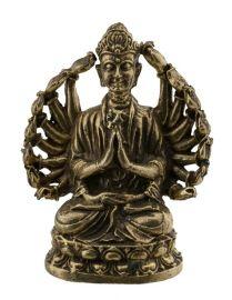 Amulette tibetaine-Tchenrezi-Avalokiteshvara-Boddhisattva-active-statuette-60mm