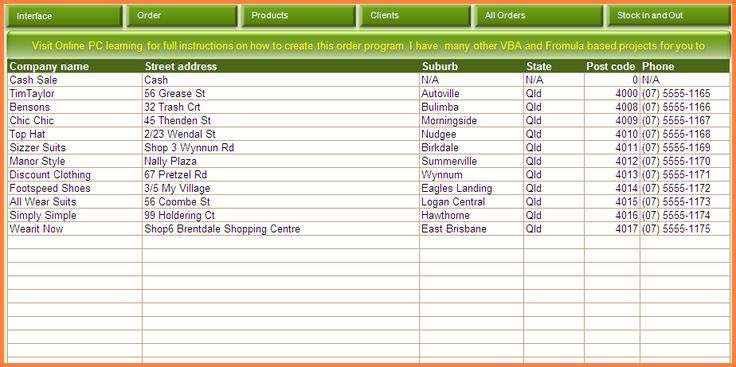 Inventory Spreadsheet Template Spreadsheet template