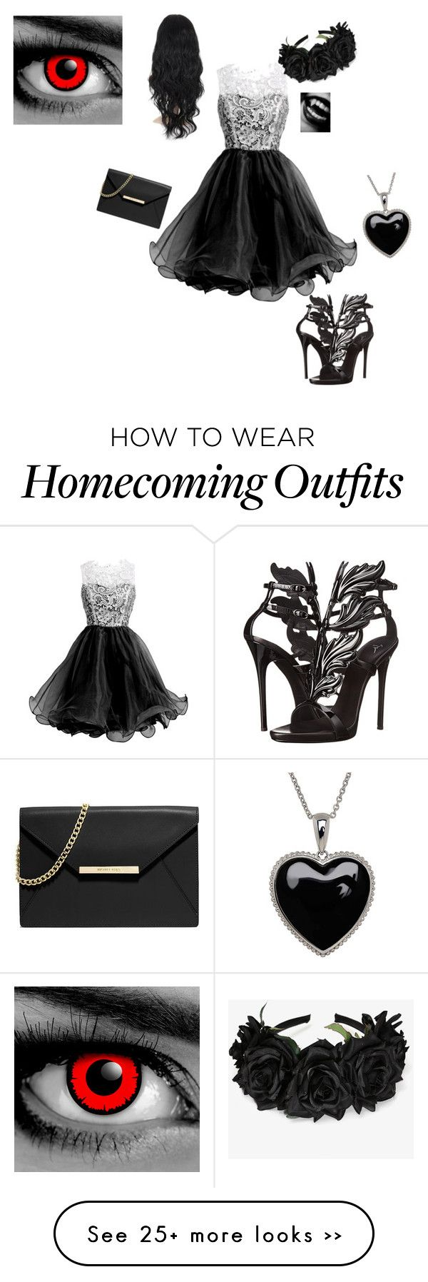 """vampire prom"" by dream-lover101 on Polyvore featuring Giuseppe Zanotti, MICHAEL Michael Kors and Lord & Taylor"