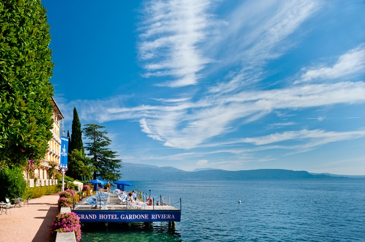 Grand Hotel Gardone pontile;   jetty  #lagodigarda #relax #summer