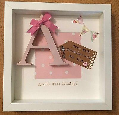 Personalised New Baby, Birth, Christening, Boy & Girl Frames Gift/Keepsake in Baby, Christening & Gifts, Christening | eBay Mais