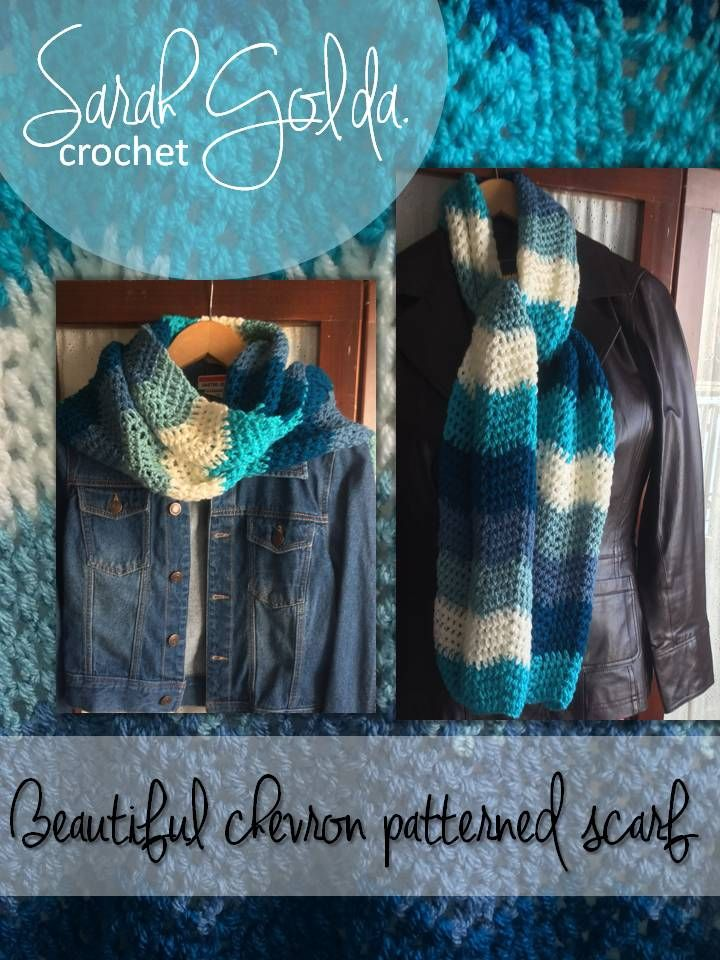This is a beautiful Chevron patterned scarf I crocheted and it was the easiest pattern I ever tried. It took only two days!