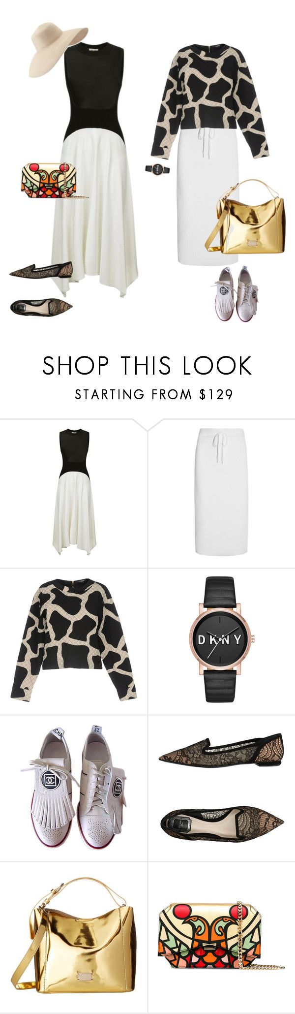"""""""На прогулку"""" by repriza on Polyvore featuring мода, DKNY, Chanel, Christian Dior, Frances Valentine, Givenchy и Eric Javits"""