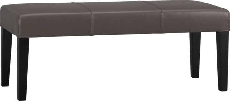 Lowe Smoke Leather Bench  | Crate - has coordinating Chairs too. And there is a lighter leather.
