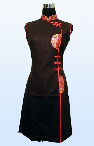 Black and Red Cheongsam Chinese Dress