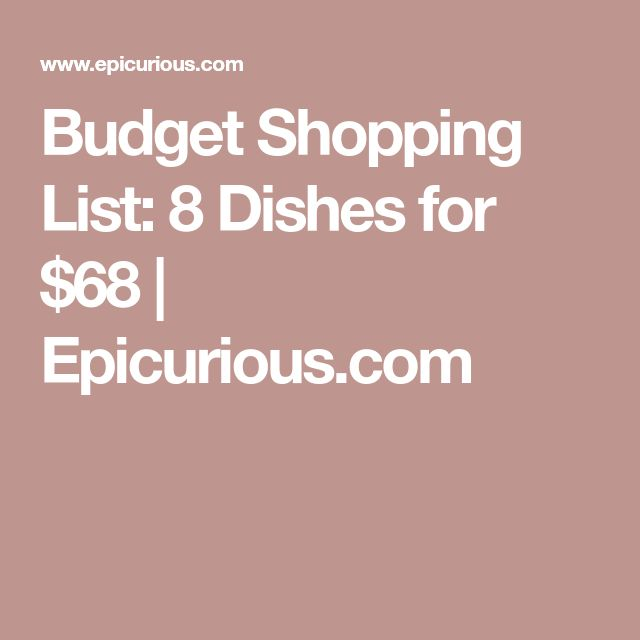 how to eat healthy on a budget shopping list