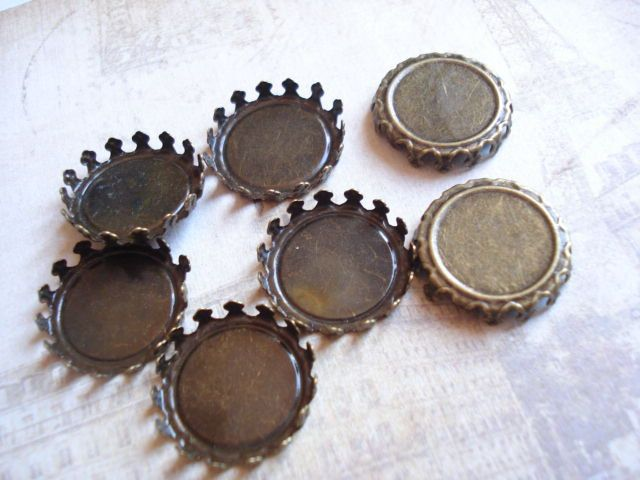 100 Bulk Antiqued Brass Base Flat Back 20mm (inner size 18mm) B-1076 by yooounique on Etsy