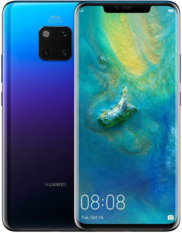 هاتف هواوي ميت 20 برو بشريحتي اتصال سعة 128 جيجابايت الجيل الرابع ال تي اي ازرق Huawei Samsung Galaxy Tablet Dual Sim