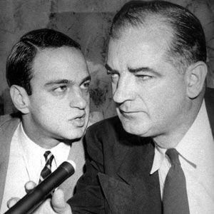 From pinterest.com/pin/253186810275461819/: Senator Joseph McCarthy and His Chief Consul, Roy Cohn, From Images