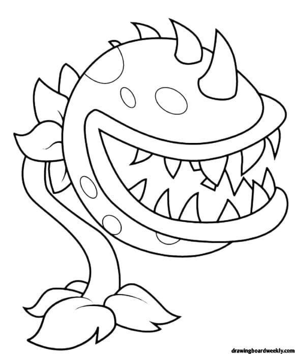 Plant Vs Zombie Coloring Page Plant Zombie Plants Vs Zombies Coloring Pages