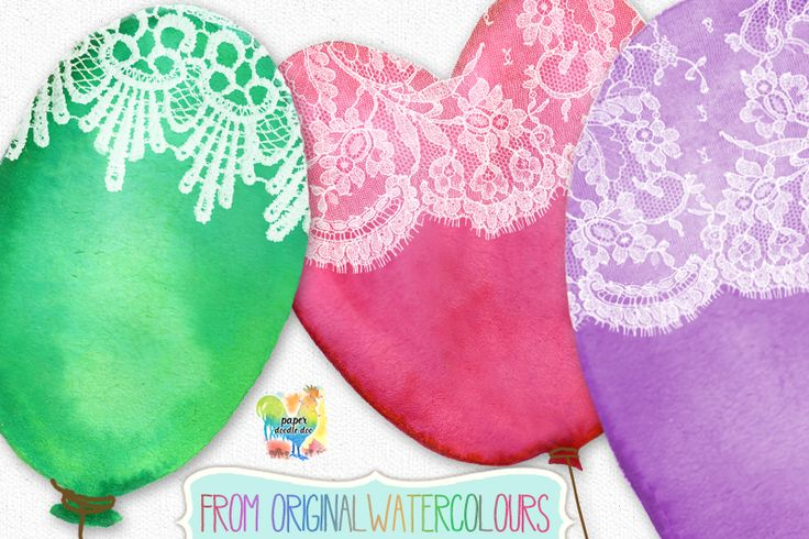 Lace Balloons Clip Art #valentines #valentines clip art #valentine printables