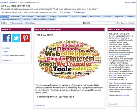 This guide will feature an overview of some of our favourite Web 2 tools and how we've used them in the library