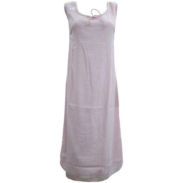 Mogul Womens Dress Sleeveless Plain Pink Scoop Neck Long Summer... (4,810 INR) ❤ liked on Polyvore featuring dresses, long summer dresses, long pink dress, sleeveless summer dresses, pink purple dress and purple dresses