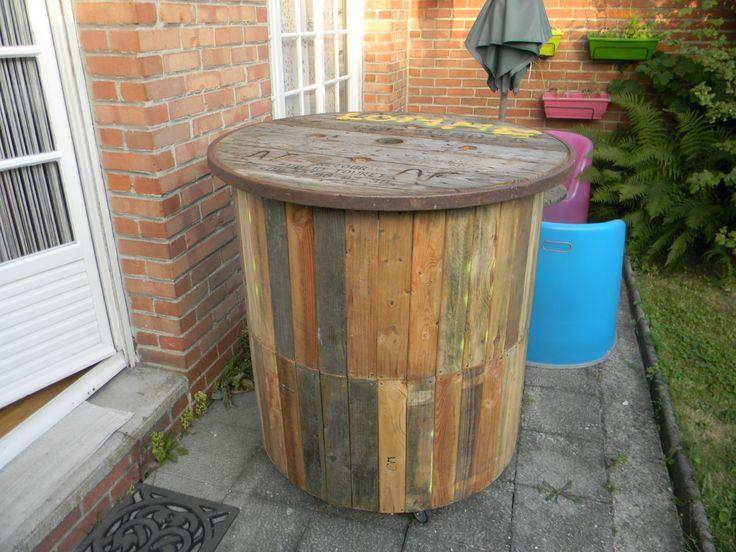 les 9 meilleures images du tableau touret en bois sur pinterest touret bobine et bobine de bois. Black Bedroom Furniture Sets. Home Design Ideas