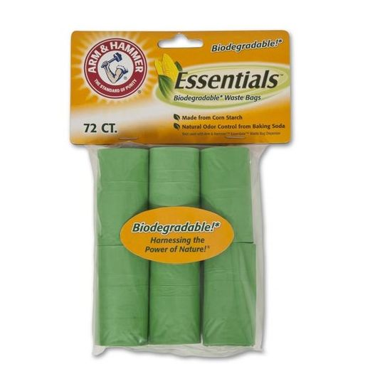 Arm & Hammer 71050 Biodegradable Waste Bag Refill, 72-Count