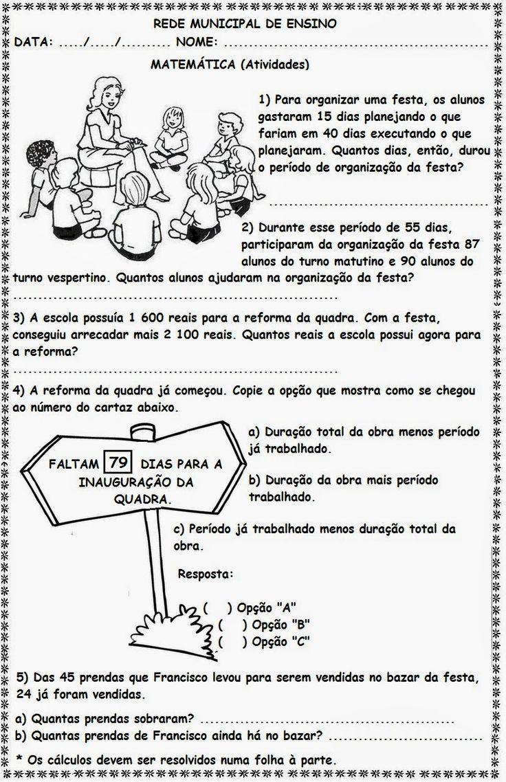 Resolucao De Problemas Matematicos 4o Ano Trabalho De Formatura
