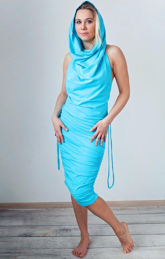 Błękitna sukienka MoreLove TANTRA (proj. MoreLove), do kupienia w DecoBazaar.com