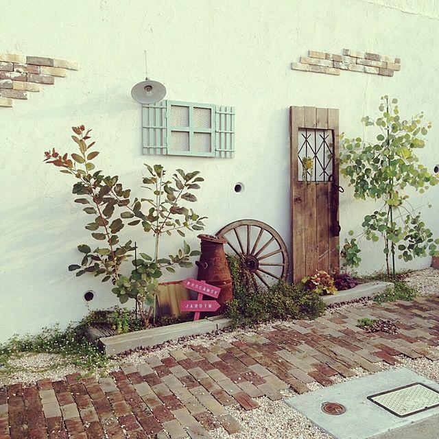 玄関/入り口と植物と多肉植物のインテリア実例