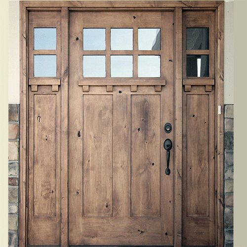 Craftsman style solid wood door. This is my dream door!