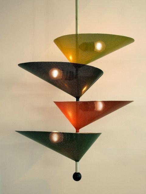 Mathieu Matégot Ceiling Light 1950s araknesharem