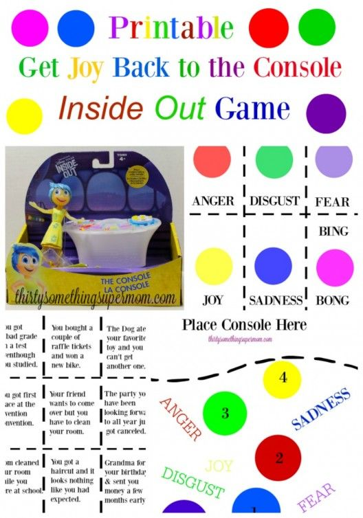 Get Joy Back to the Console Printable Game - Fun & Free Inside Out Printable Game #InsideOutEmotions #ad  ThirtySomethingSuperMom