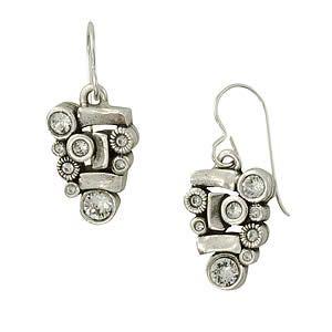 Anasazi Earrings in Silver, Crystal by Patricia Locke Jewelry