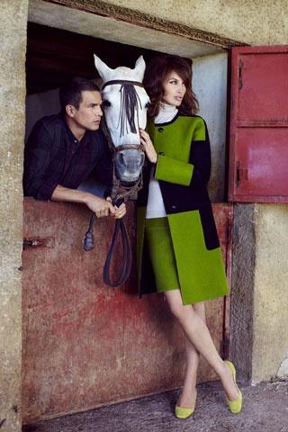 Fotografias de José Maria Manzanares en la producción para la revista Glamour. Fotos James White