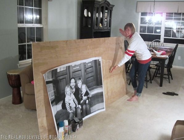 You can frame a large photo for less than $20 making a huge statement on a wall with this tutorial from the East Coast Creative.