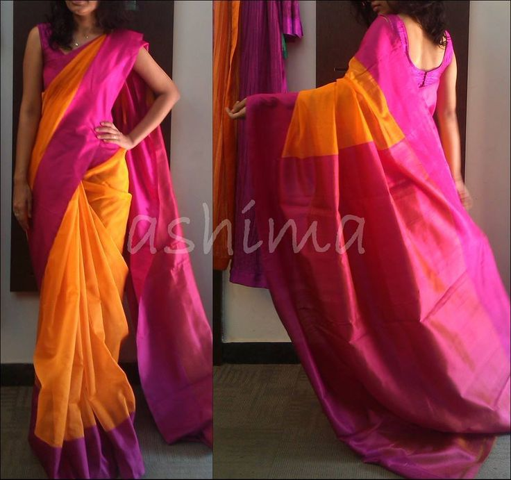 Code:2406150-Chanderi With Pure Kanchipuram Silk Border & Pallu Price INR:9180/-
