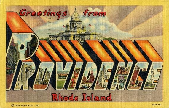 Greetings from Providence Rhode Island - vintage postcard
