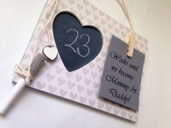Countdown to baby Gift for expecting mom by EmbellishedForLove