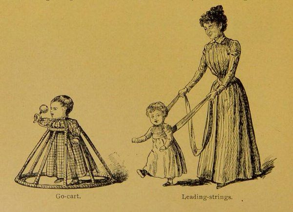 Royal College of Physicians -- Teaching babies to walk in the 19th century, from 'The Household Medical Adviser.'