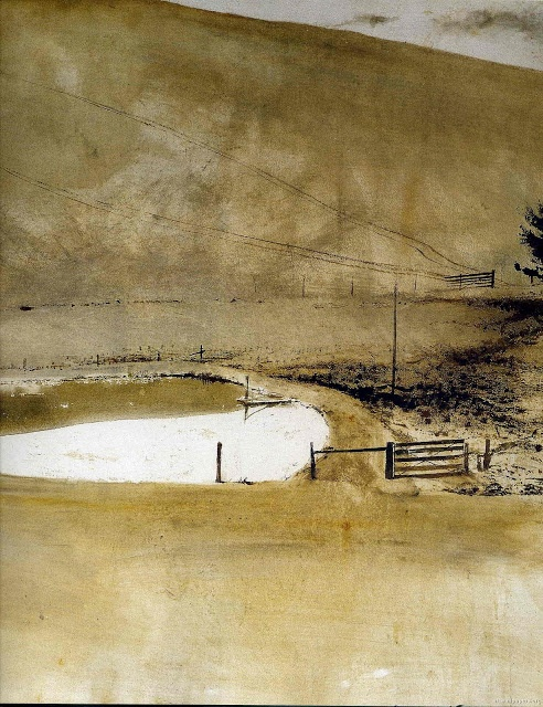 Andrew Wyeth awesome abstract qualities