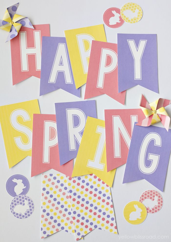 Bright and Colorful Happy Spring Banner