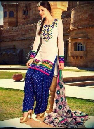 Beautiful salwar...love the colors!