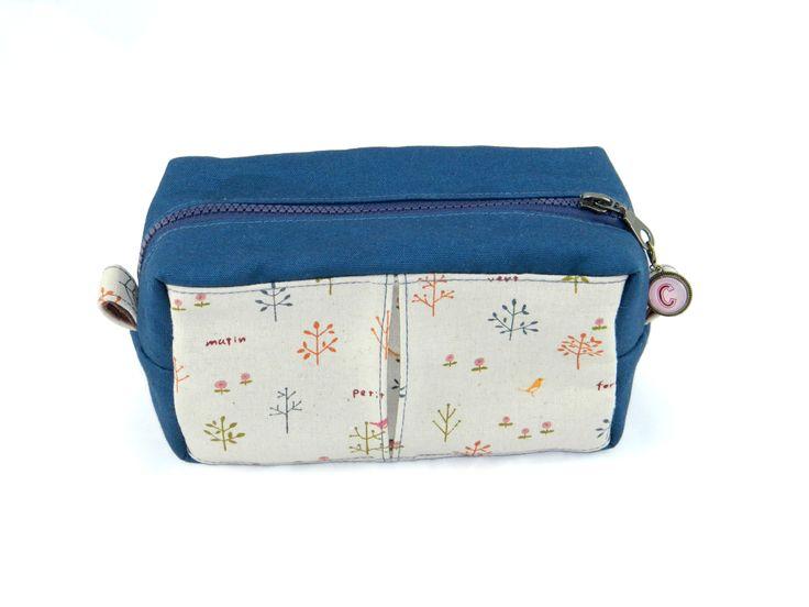 Water Resistance  Make-up Bag Personalised zip tab