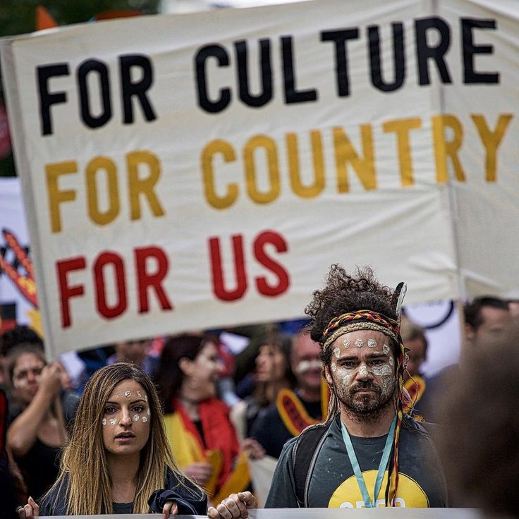 For culture, for country, for us ... Leading the People's Climate March in Melbourne, Australia, November 2015