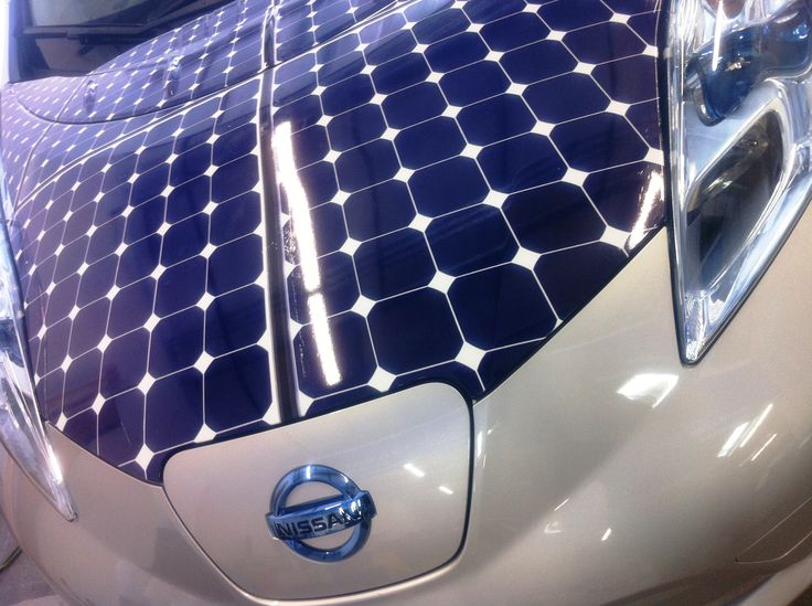 Nissan Leaf Solar Hood Vinyl | Solar Products I Love ...