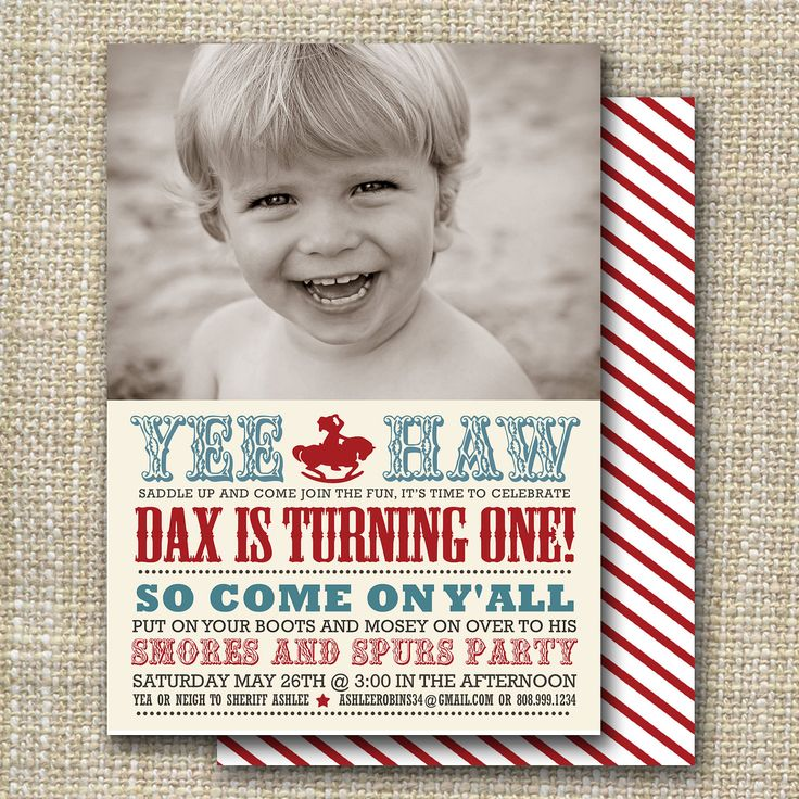 birthday party invitation western birthday party  by westwillow, $15.00