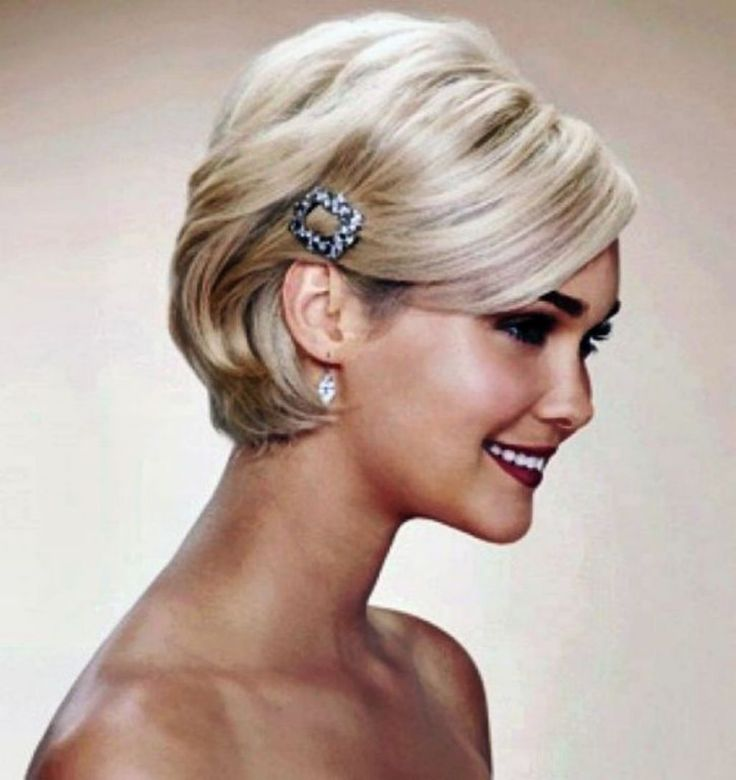 Sis likes this one. hair fascinators with short hair - Google Search