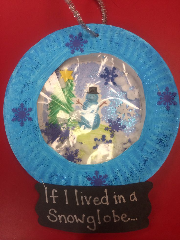 If i lived in a snowglobe great winter craft for Preschool snow globe craft
