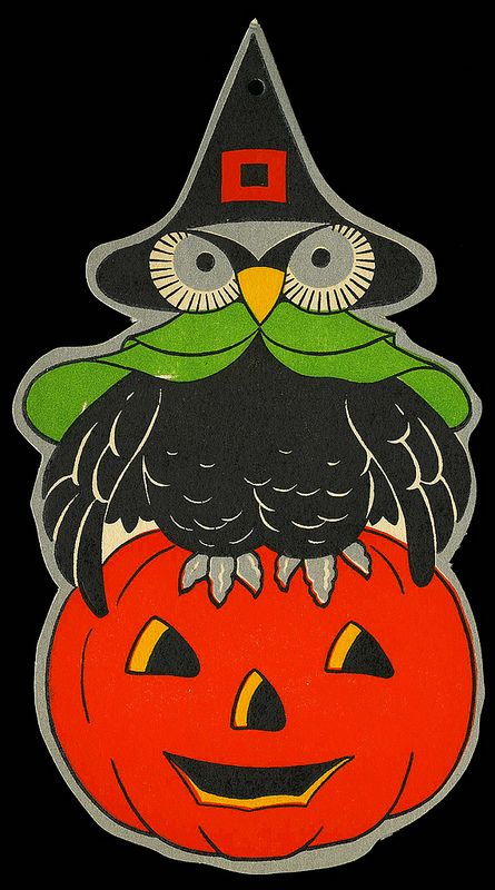 vintage halloween decoration flickr photo sharing - Old Fashioned Halloween Decorations