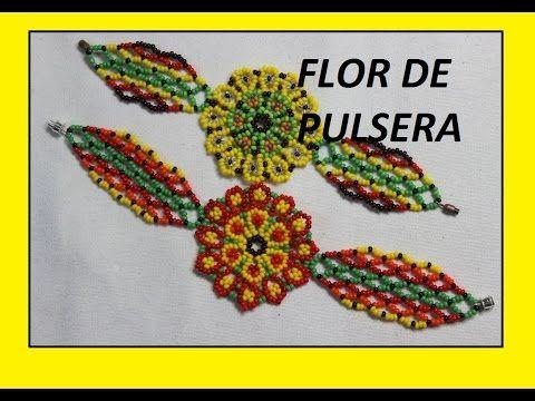 COMO HACER PULSERA DE FLOR//aretes collares pulseras - YouTube