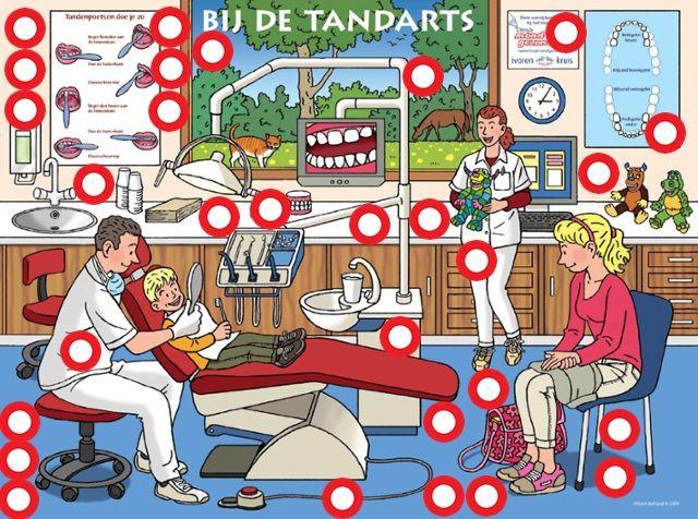 Interactieve praatplaat thema tandarts, by juf Petra van kleuteridee, met veel informatieve filmpjes ( klik op de rondjes)