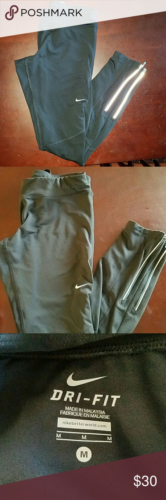 Dri-fit Nike running pants They also have a back pocket to carry a phone Nike Pants Track Pants & Joggers