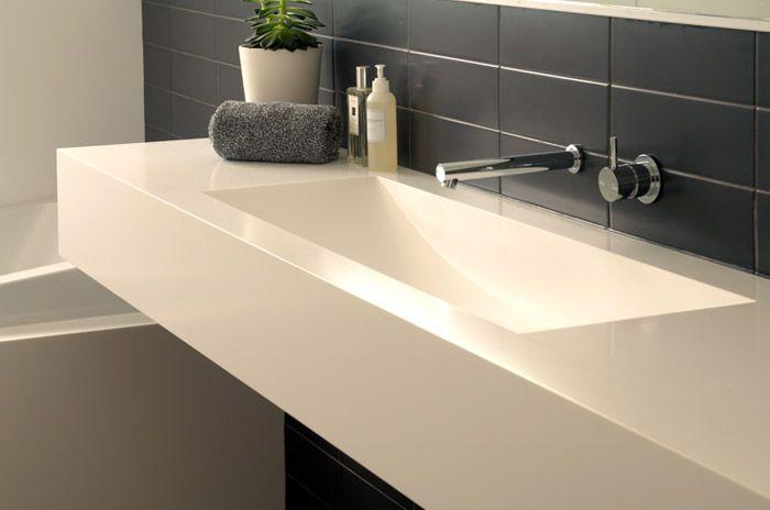 corian integrated sink basin bathroom vanity bathroom. Black Bedroom Furniture Sets. Home Design Ideas
