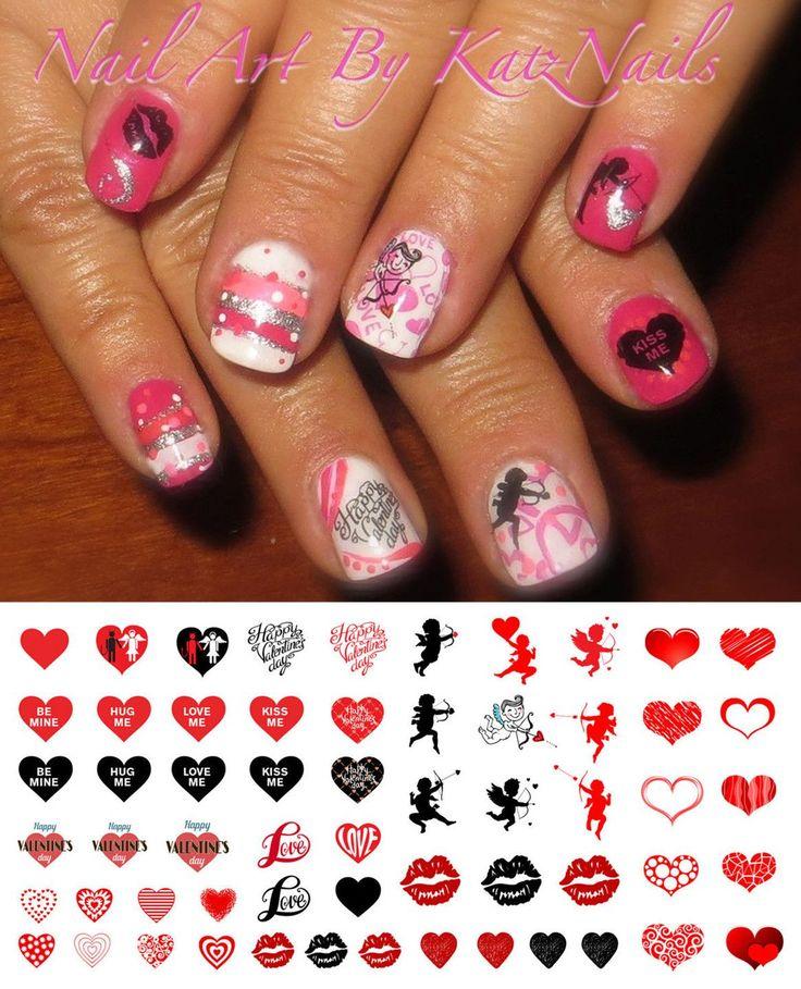 Valentine's Day Nail Decals Assortment #1