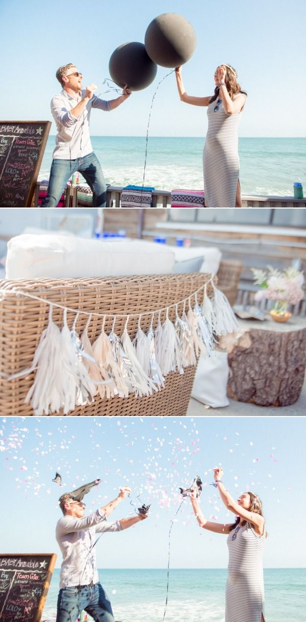 Beach 30th Birthday + Gender Reveal Fiesta